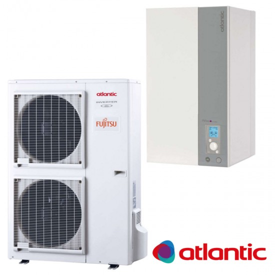 Installation de Pompe à chaleur chauffage seul split ATLANTIC Alféa Excellia A.I. TRI 16, 15,17 kW