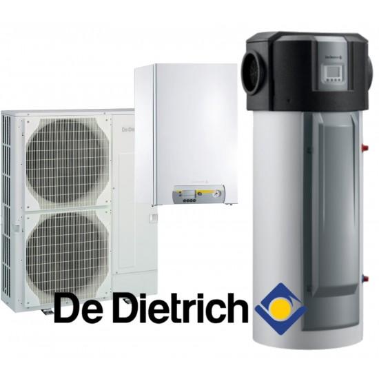 Installation de Pompe à chaleur chauffage seul split DE DIETRICH Alezio Evolution  AWHP-3/E 11MR avec appoint électrique+ Ballon Thermodynamique Kaliko TWH E 300