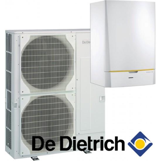 Installation de Pompe à chaleur chauffage seul split DE DIETRICH HPI Evolution 8 MR-2 / E avec appoint électrique