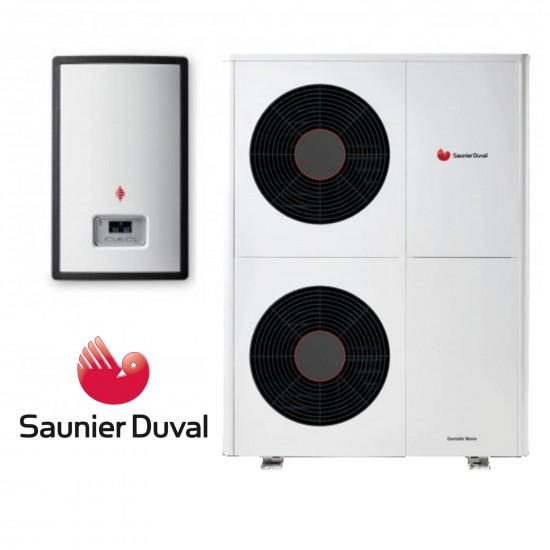 Installation de Pompe à chaleur PAC Air/Eau Saunier Duval GeniaAir Split 5