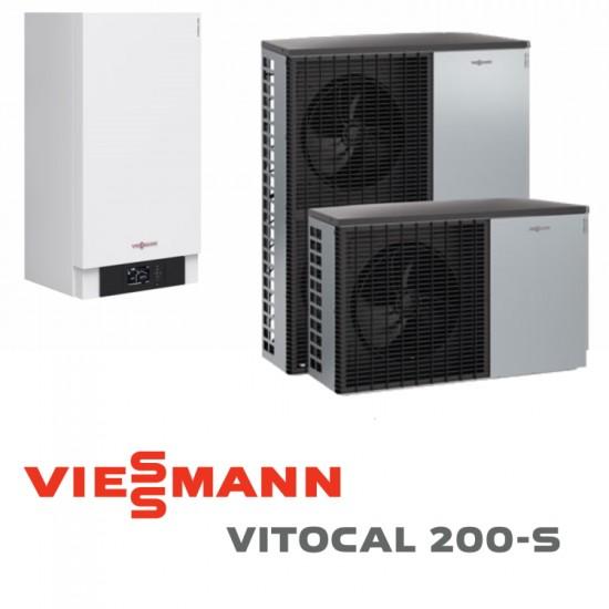 Installation de Pompe à chaleur VIESSMANN VITOCAL 200-S   AWB-M-E - 201.D08 - 8kW